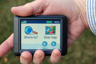handheld gps menu display